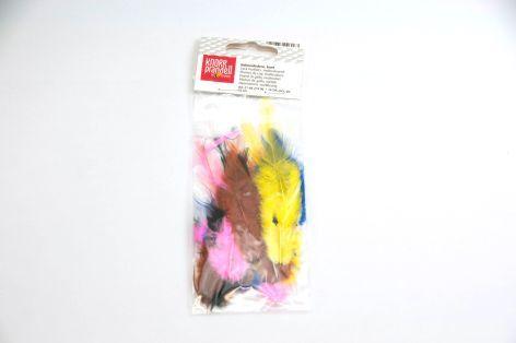 Hahnenfedern 5 bis 7cm 4 Farben sortiert 2gramm kein Leb...