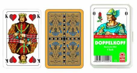 Kartenspiel Doppelkopf Deutsches Bild im Kunststoffetui