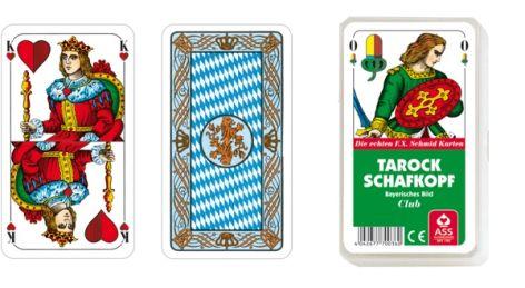 Kartenspiel Schafkopf Tarock Bayerisches Bild im Kunstst...
