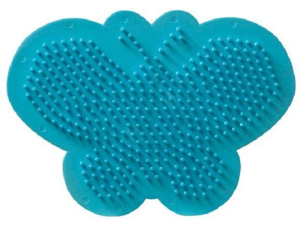 Bügelperlen Stiftplatte Schmetterling türkis 15x12cm