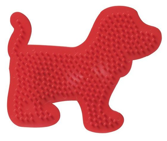 Bügelperlen Stiftplatte Hund rot 14,6x12cm