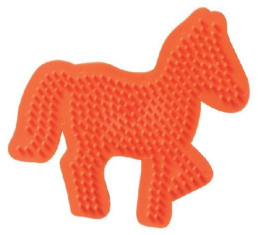 Bügelperlen Stiftplatte Pferd orange 14x13,5cm