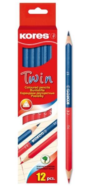 #6xFarbstift TWIN Jumbo rot/blau