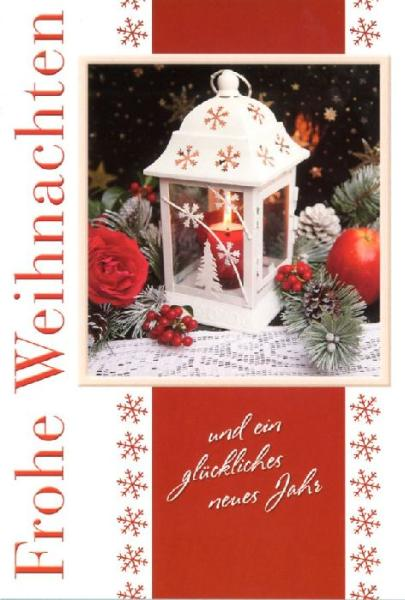 HORN Weihnachtskarte - Laterne - inkl. Umschlag