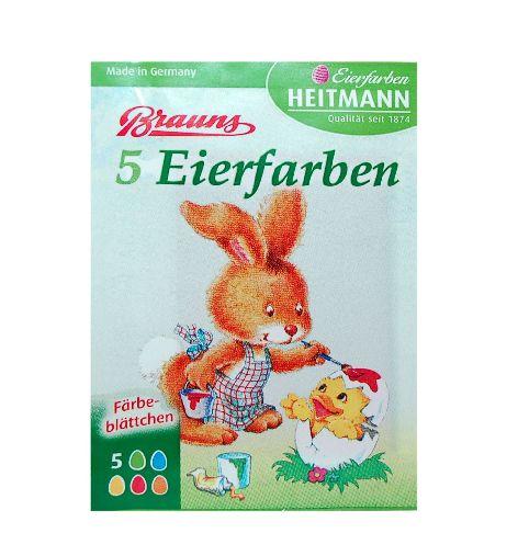 Eierfarben 5 Stück Heißfärbe Blättchen