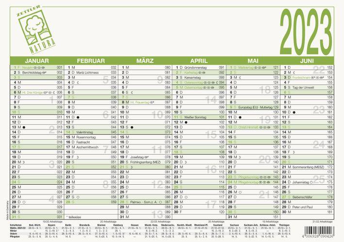 Tafelkalender A5 UMS 904 6Monate 1Seite