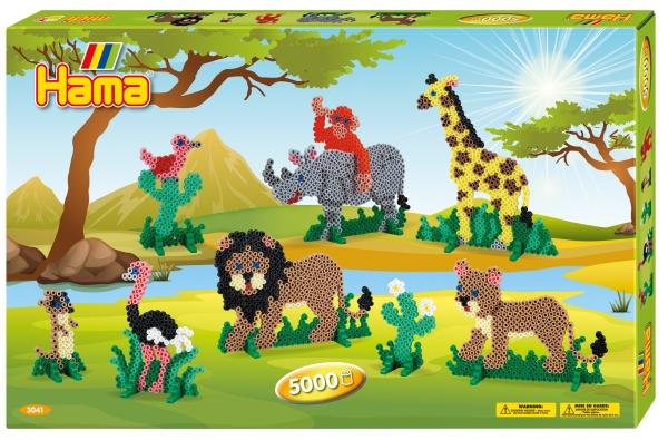 Hama Bügelperlen midi Safari, Geschenkpackung