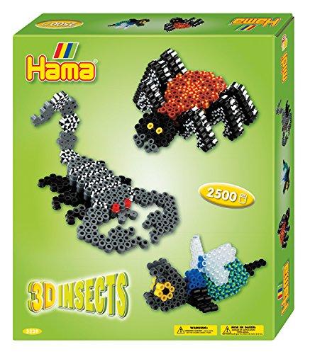 Hama Bügelperlen midi 3D Insekten, Geschenkpackung