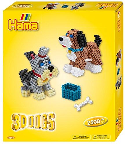 Hama Bügelperlen midi 3D Hunde, Geschenkpackung