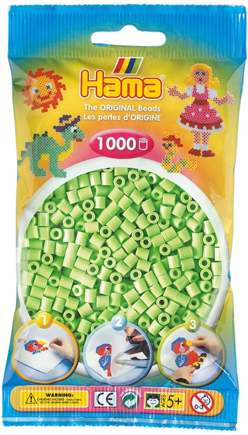 Hama Bügelperlen midi, pastell-grün, im Beutel