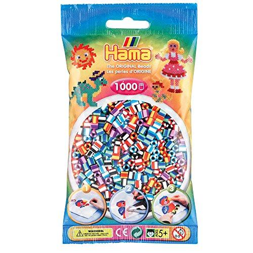 Hama Bügelperlen midi Streifenperlen-Mix 90, im Beutel