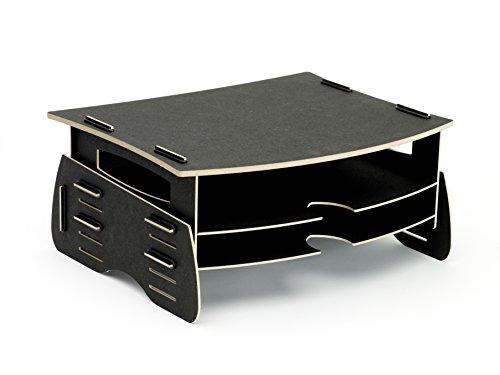 Fellowes TFT-Monitorständer EARTH, aus Holz, schwarz