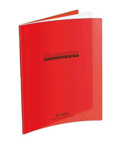 CONQUERANT CLASSIQUE Cahier 210 x 297 mm, séyès, rouge