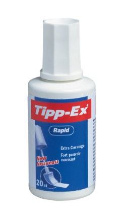 Korrekturfluid Tipp-Ex® Rapid, Flasche à 25ml, weiß