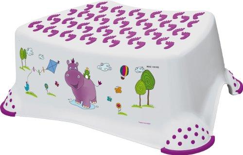 keeeper kids Tritthocker tomek hippo, weiß mit Aufdruck