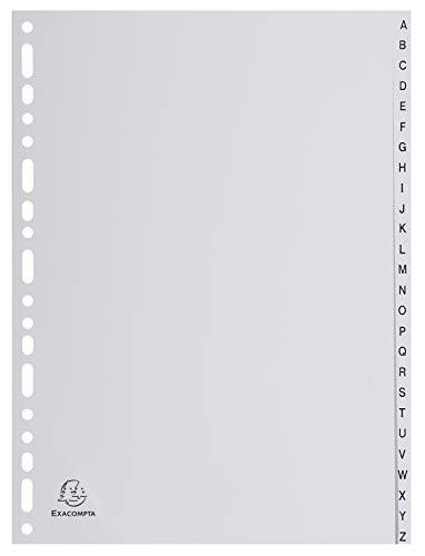 EXACOMPTA Kunststoff-Register, A-Z, DIN A4, 26-teilig