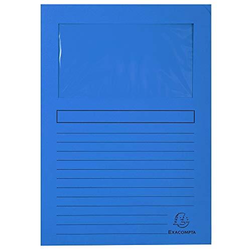 EXACOMPTA Sichtmappe FOREVER, DIN A4, 120 g/qm, dunkelblau