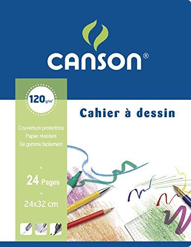 CANSON Zeichenheft, 170 x 220 mm, blanko, 8 Blatt