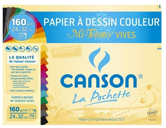 CANSON Künstlerpapier Mi-Teintes, 320 x 240 mm, farbig
