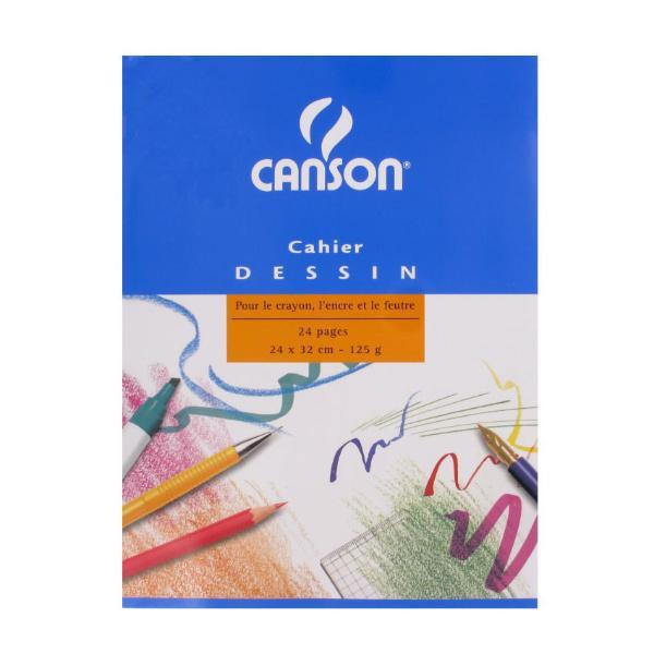 CANSON Zeichenheft, blanko, 125 g/qm, 240 x 320 mm