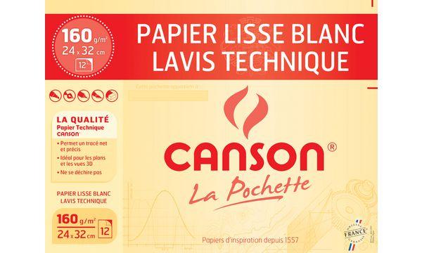 CANSON technisches Zeichenpapier, 240 x 320 mm, 160 g/qm