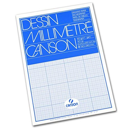 CANSON Millimeterpapier-Block, DIN A4, 90 g/qm