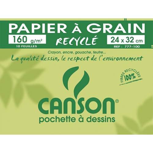 CANSON Zeichenpapier Recycling, weiß, 240 x 320 mm, 160 ...