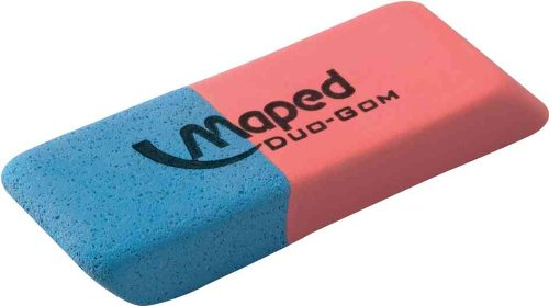 Maped Kautschuk-Radierer Duo-Gom, mittel, blau/rot