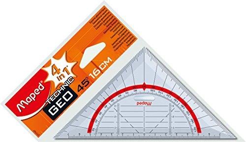 Geometrie-Dreieck 16cm mit Griff Technic Blisterkarte