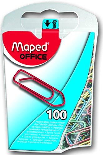 Maped Büroklammern, farbig lackierter Stahl, 25 mm