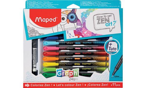 Maped Zeichenset GraphPeps How to set ZEN art, 11-teilig