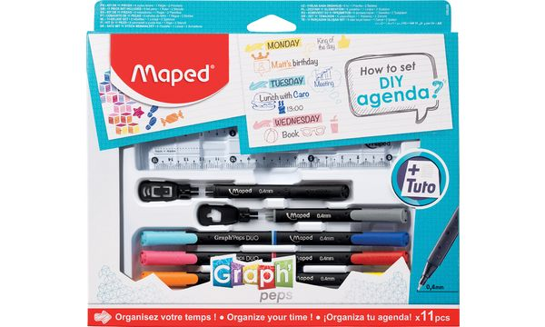 Maped Zeichenset GraphPeps How to set DIY agenda