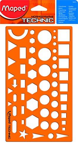 Maped Zeichenschablone NORMOGRAPHE TECHNIC, orange