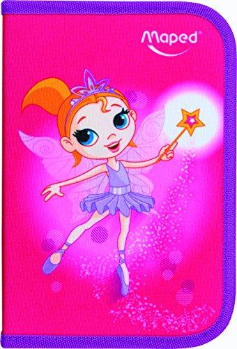 Maped Schüleretui Fairy, aus Polyester, pink, befüllt