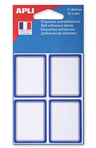 agipa Buchetiketten, blau, 38 x 50 mm, blanko