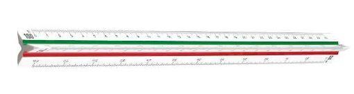 JPC Dreikant-Maßstab Architekt (II), aus Kunststoff, weiß