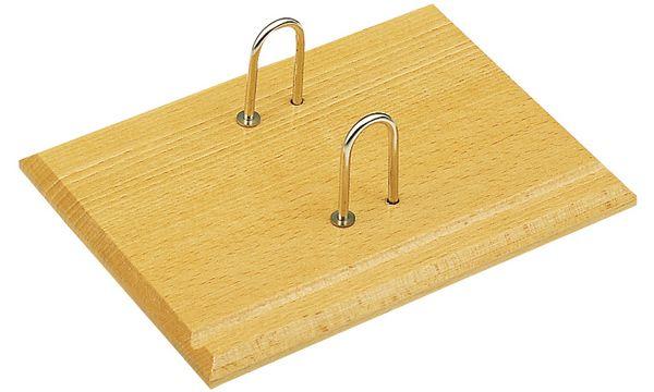 JPC Sockel für Kalendarien, aus Holz, Bügel aus Metall