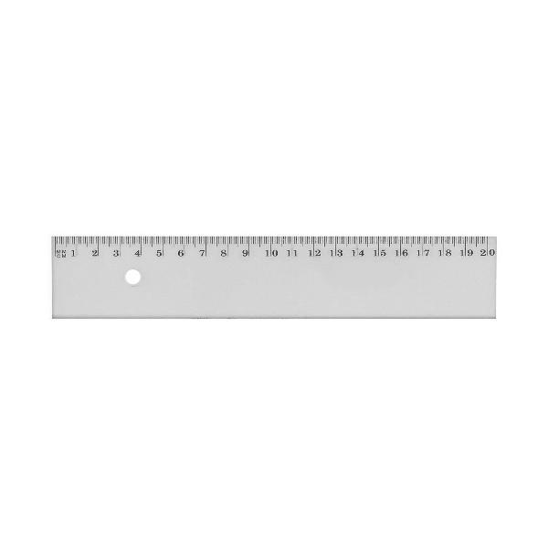 JPC Flachlineal, 200 mm, aus Kunststoff, bruchfest