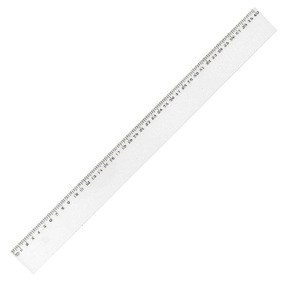 JPC Flachlineal, 400 mm, aus Kunststoff