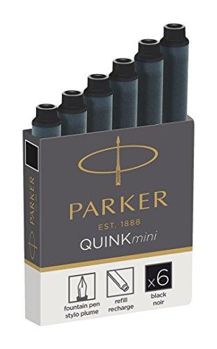 PARKER Tintenpatronen QUINKmini, schwarz, permanent