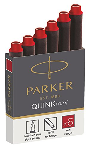PARKER Tintenpatronen QUINKmini, rot, permanent