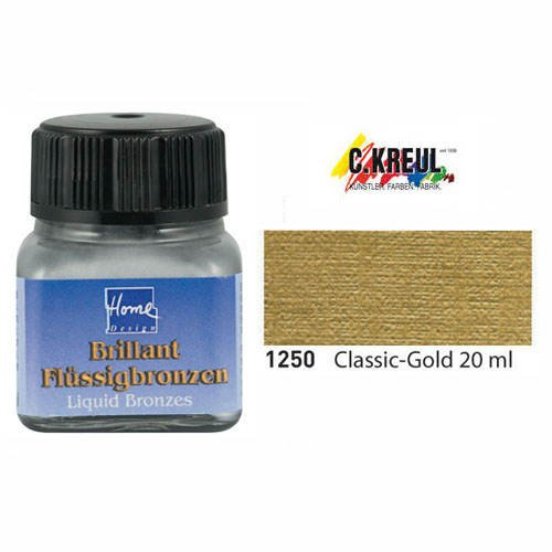 KREUL Flüssigbronze Home Design, classic-gold, 20 ml