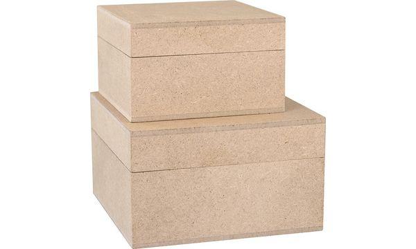 KREUL Holzschachtel, quadratisch, 2er-Set