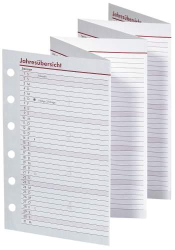 Timer Faltkalender ca.A7 Jahresübersicht Leporello 2021