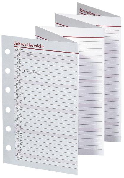 BSB Timer Faltkalender ca.A6 Jahresübersicht Leporello 2020