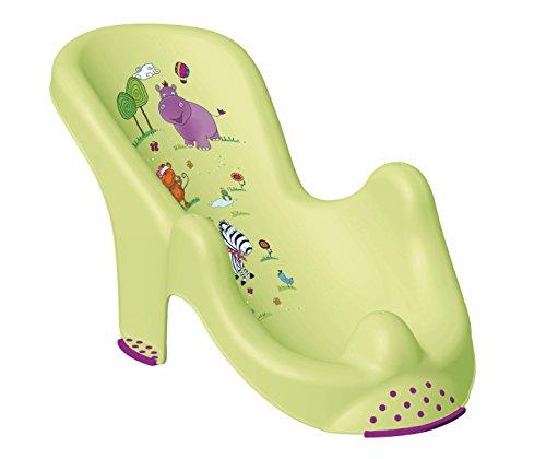 keeeper kids Anatomischer Babybadesitz leon hippo, grün