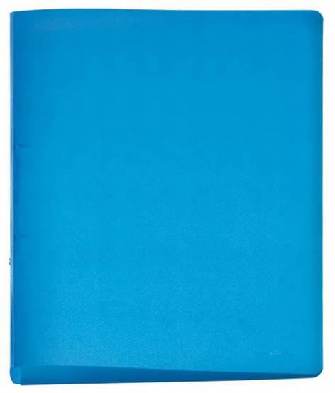 Ringbuch A4  -Ring 15mm PP-Frost blau Folia