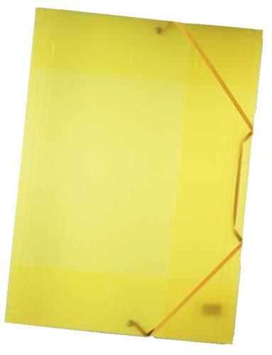 FOLIA Gummizugmappe A3 transp. gelb
