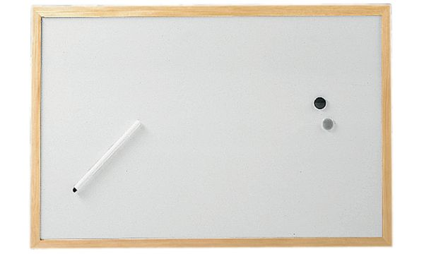 MAUL Weißwandtafel mit Holzrahmen, (B)600 x (H)400 mm