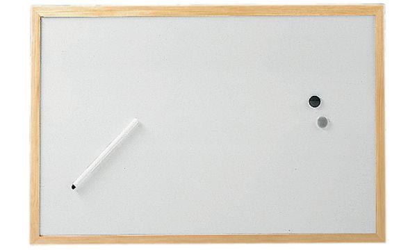 MAUL Weißwandtafel mit Holzrahmen, (B)900 x (H)600 mm